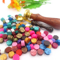 1set One Custom Wax Stamp One Spoon And 100 Pieces Sealing Wax Tablets Use For Wedding