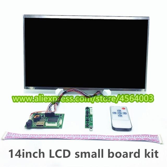 14 pulgadas pantalla LCD mini controlador B140XW01 LP140WH1 LTN140AT07 N140BGE-L23 de monitor Audio pequeña placa de controlador VGA HDMI kit