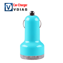 Colorful Mini Car Charger 2 ports Cigarette Port Micro auto power Adapter Nipple Dual USB for Phone 6s 7 plus samsung s7