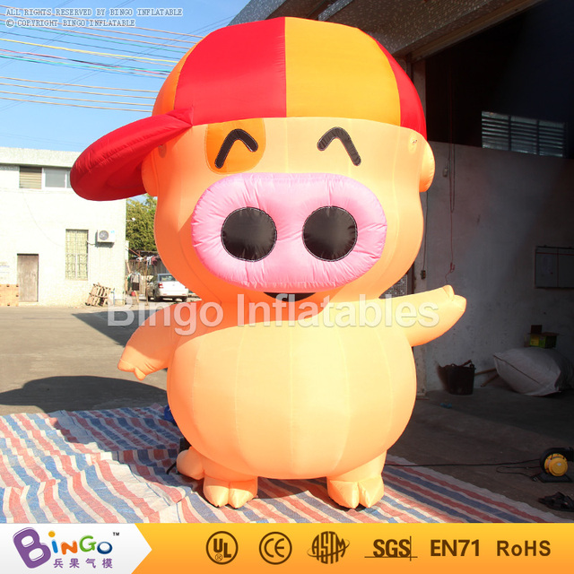 Free delivery Hot-sale decoration type Giant inflatable pig for children toys