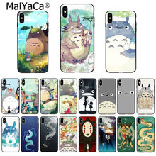 MaiYaCa unikalny luksusowy telefon sprawa karton studio ghibli Spirited Away Totoro dla Apple iPhone 8 7 6 6S Plus X XS MAX 5 5S SE XR(China)