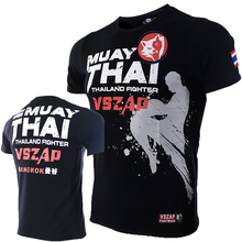 VSZAP XXS-4XL Bangkok Boxing MMA T Shirt Gym Tee Fighting Martial Arts Fitness Training Muay Thai TShirt MenHomme