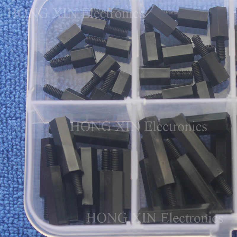 5 NERO Raspberry Pi in box 380 pezzi nylon Distanziatore Distanza bulloni set m2