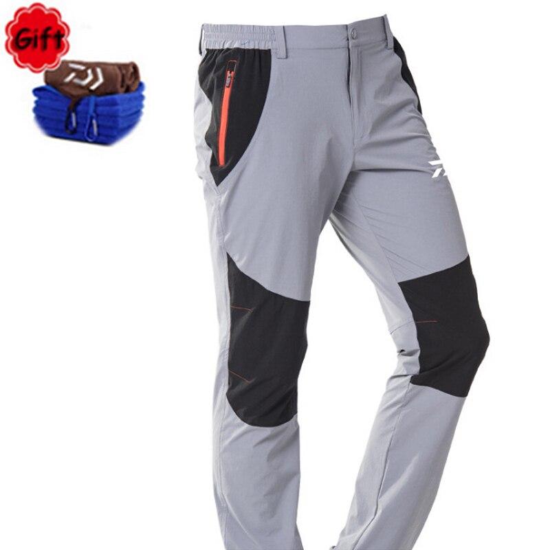 DAIWA hommes grande taille pêche vêtements printemps été Sports de plein air escalade pantalon respirant imperméable pêche longue pantalon serviette