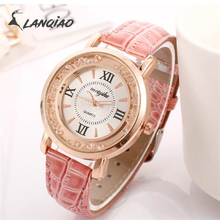 Lanqiao female students fashion sports trendy simple wristwatch Leisurel strap waterproof quartz  belt watch 2019