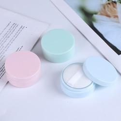 Plastik boş gevşek toz kutusu elek ile kozmetik makyaj kavanoz konteyner seyahat doldurulabilir parfüm kozmetik puf ile 3 renk