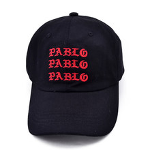 new I Feel Like Pablo Red Hat Dad Baseball Cap Kanye Pablo embroidery dad hat men women Snapback Cap hats цены