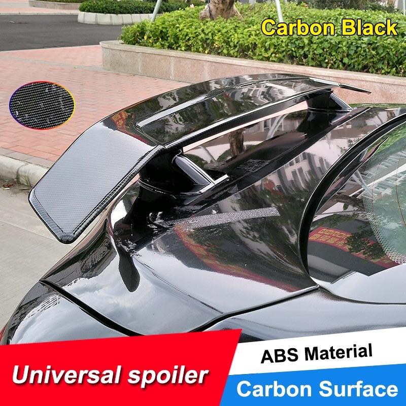 JNCFORURC ailes de Spoiler de voiture arrière en Fiber de carbone pour aile GT universel pour couvercle de coffre de voiture