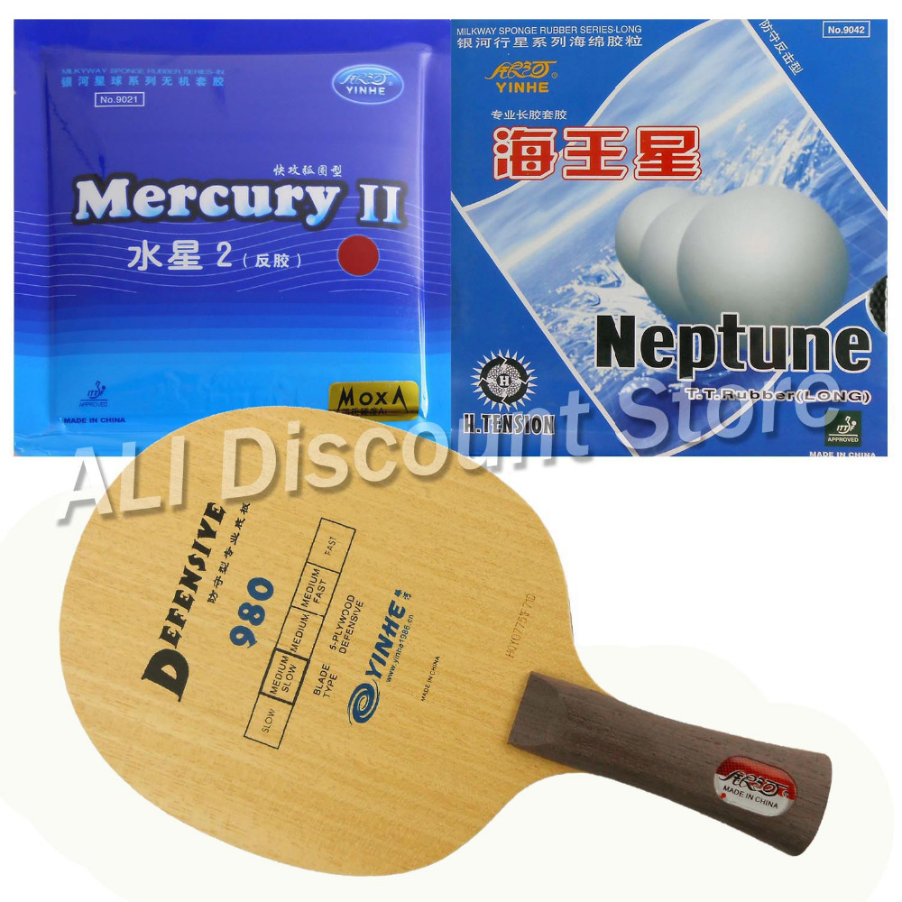Galaxy YINHE 980 Blade with Galaxy YINHE Mercury II and Neptune Rubbers for a Table Tennis Combo Racket FL hrt 2091 blade with galaxy yinhe 9000e dawei 388a 4 rubbers for a table tennis combo racket fl