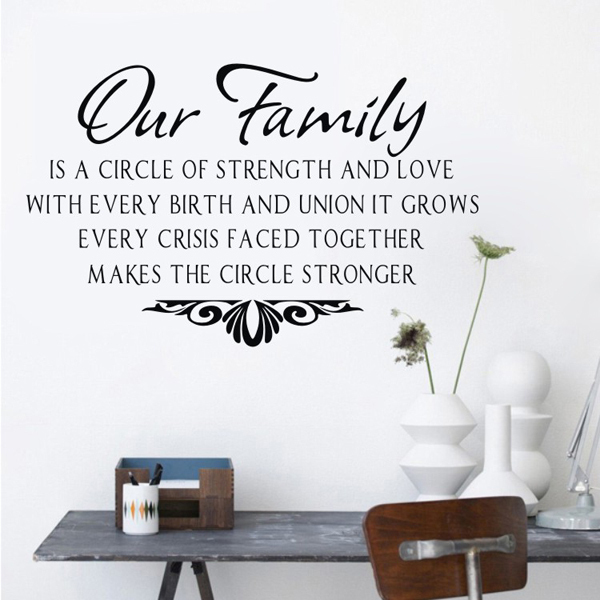 Our Family Wall Sticker Sentences Wall Decals Quotes Vinyl Wall