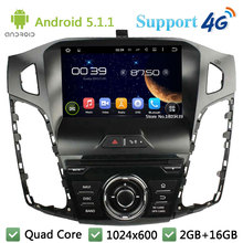 "3G/4G 8 ""5.1.1 HD1024 * 600 Quad Core 16 GB Android Coches Reproductor de DVD de Radio GPS estéreo Para Ford Focus 3 2011 2012 2013 2014/C Max 2011"