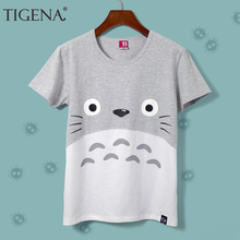 Harajuku Kawaii Cat Totoro T Shirt Female 2018 Summer Short Sleeve Cotton T shirt Women Tops