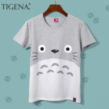 Harajuku Kawaii Cat Totoro T-Shirt Female 2018 Summer Short Sleeve Cotton T shirt Women Tops Graphic Tee Shirt Femme Tshirt