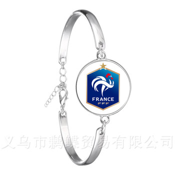 2018 Titan Cup Costa Rica/Columbia/France/Russia National Football Team Logo Football Bracelet Fans Souvenir Gift World Cup image
