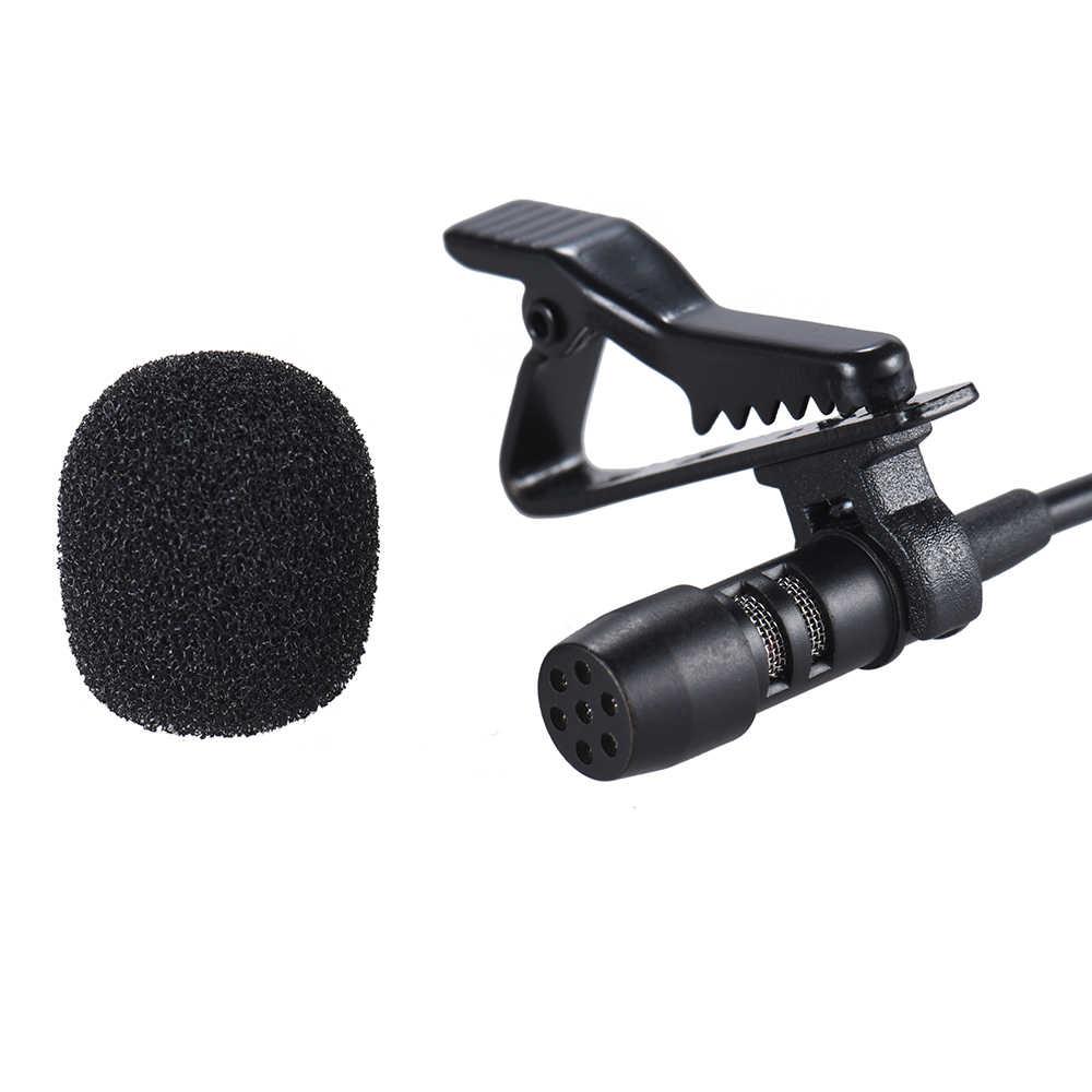 Andoer Mini Clip-on Risvolto Microfono Lavalier Mic del Trasduttore Auricolare per Smartphone Computer PC Del Computer Portatile Altoparlante Streaming In Diretta Microfono