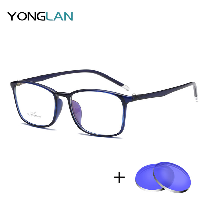 Yong Lan TR90 Glasses Frame Men Women Eyewear Assembly Prescription lens Customized Myopia Optical Astigmatism Anti Reflective(China)