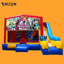 2017 New style MZQM commercial inflatable bouncer slide size L5XW5XH3.5m inflatable bouncer castle free blower
