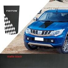 Car Exterior Hood Cool Sticker Racing Flag Bonnet Vinyl Graphic for Mitsubishi L200 Triton