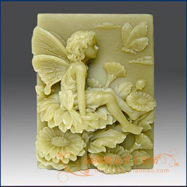 Květinové dítě Lunlun Silikonová mýdlová forma Handmade 3D silikonová forma Formy DIY Craft S084