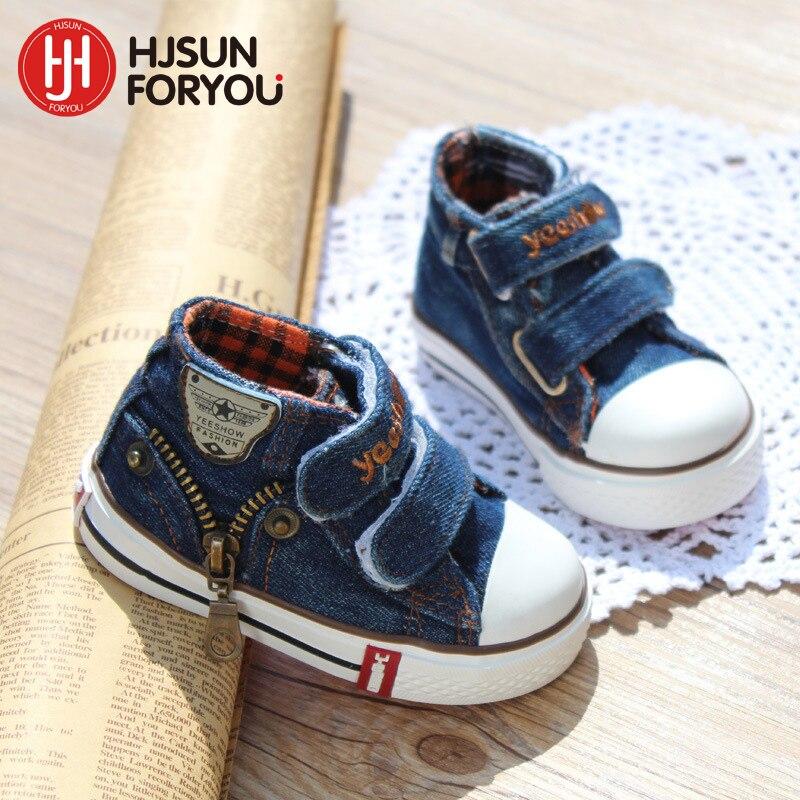 c3f692f4706 Beste Kopen Nieuwe stijl kinderen canvas schoenen meisjes en jongens mode  flats schoenen ademend kinderen kind casual baby schoenen maat 19 24  Goedkoop.