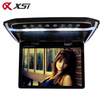 XST 12.1 Inch Car Roof Mount Monitor Flip Down TFT LCD Player Support HD 1080P Video FM HDMI SD Touch Button Ceiling MP5 Player