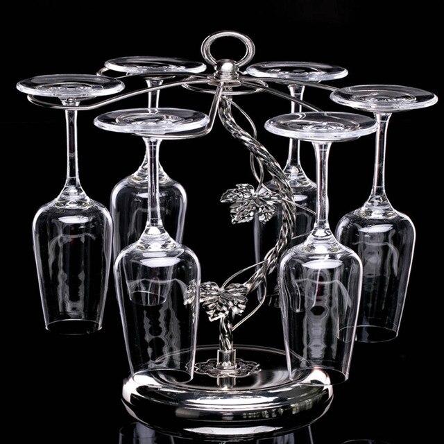 Fashion Decorative Metal Modern Hanging Wine Glass Racks ...
