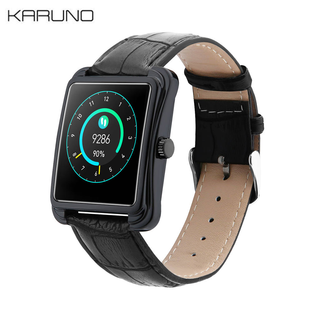 KARUNO Smart Watch V60 Waterproof Fitness Watch Men Blood Pressure Heart Rate Monitor Sports Smartwatch For IOS Android