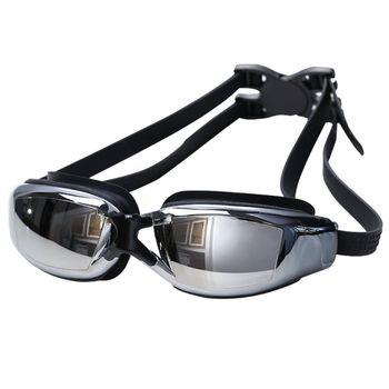 Anti-Fog gogle pływackie okulary pływackie regulowany ochrona przed promieniowaniem UV dzieci dzieci dorosłych okulary pływackie okulary tanie i dobre opinie Pływać Octan MULTI Poliwęglan 45MM 50MM WOMEN HN89