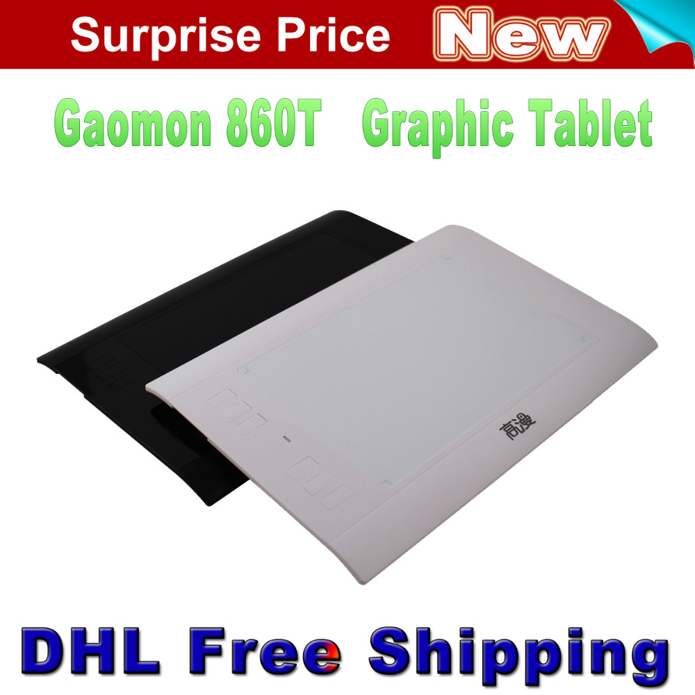 Free Shipping New GAOMON 860T Digital Pen Tablets Graphic Tablet USB Drawing Tablet Extend to 64GB TF Card With Digital Pen