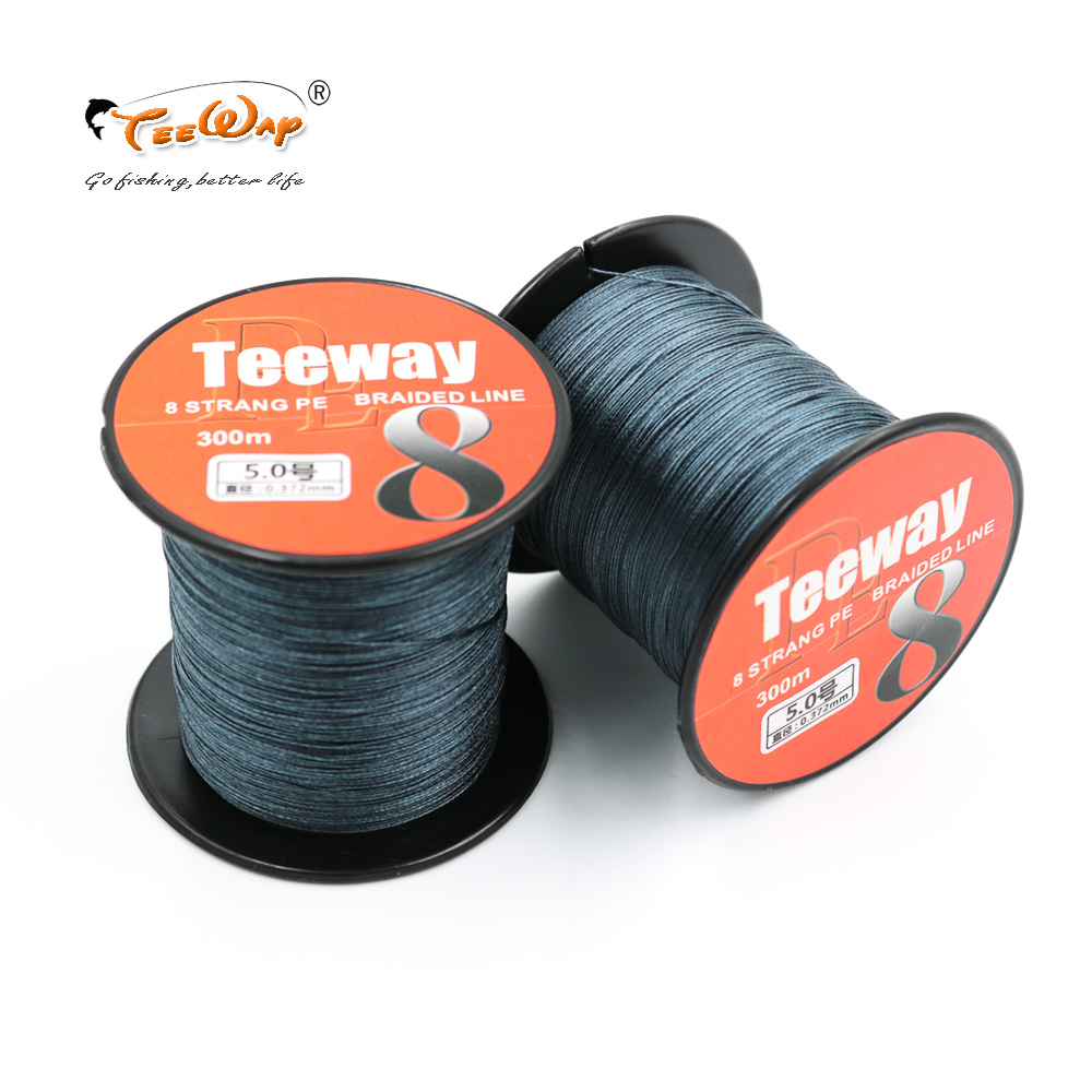 Teeway 1Pcs 300M Multifilament PE Braided Fishing Lines 8 Strands Super Strong Braided Line Fishing Lines Tackle pesca|fishing lines 8|fishing line 8 strands|8 strands - title=