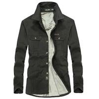 Men Cotton Shirts Winter Warm Fleece Military Style Shirt Army Combat Long Sleeve Shirt Plus Size Blouse 4XL 5XL 6XL
