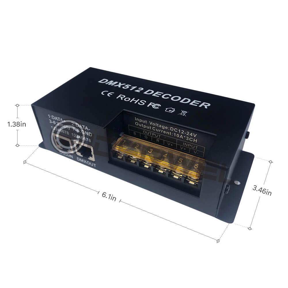 3 ալիք dmx ապակոդավորող rgb LED շերտի հսկիչ - Լուսավորության պարագաներ - Լուսանկար 4