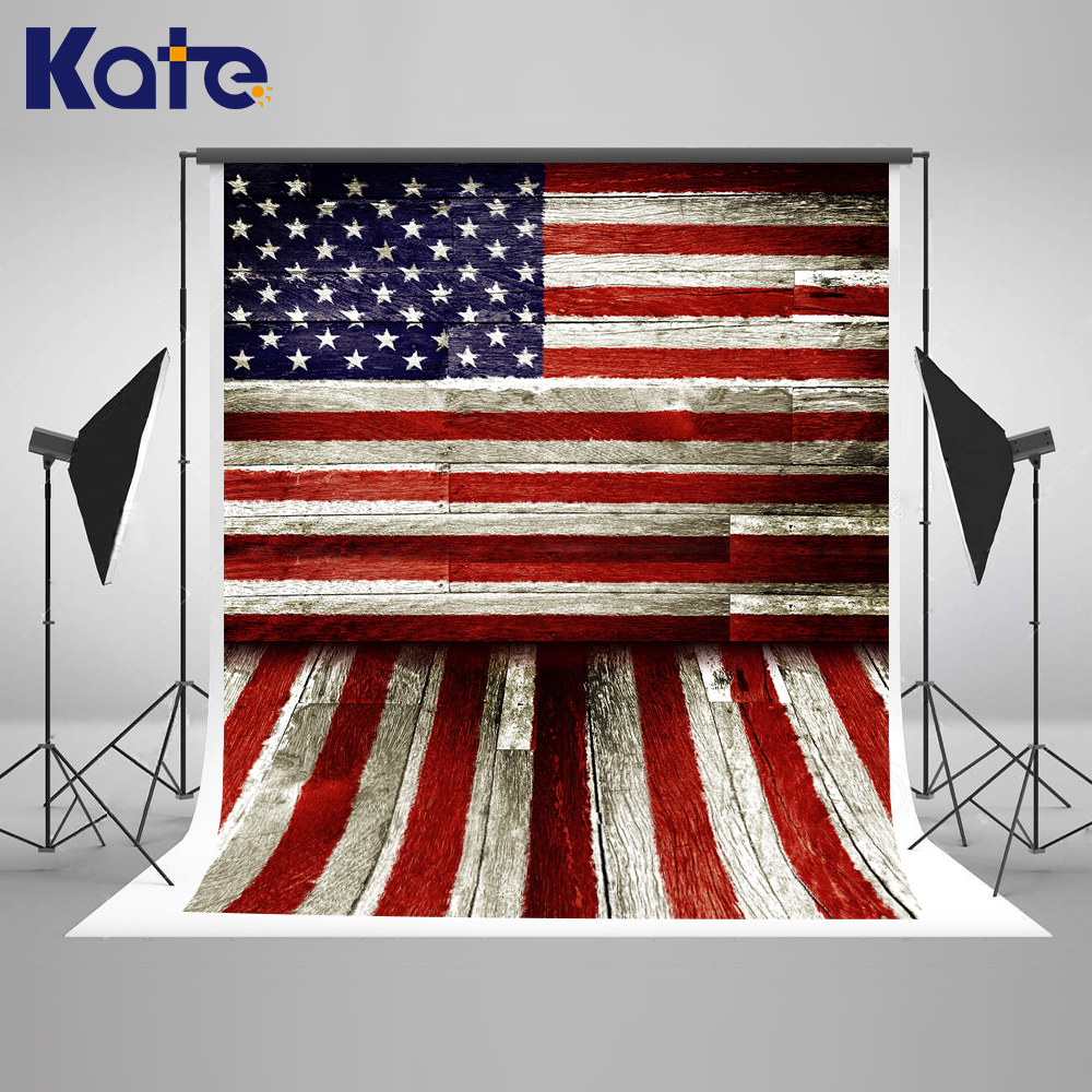 Kate Wood Photo Backdrop Independence Day Newborn Photography Backdrops American Flag Background Stage Studio Photography Prop allenjoy photo backdrop stars independence day stripes celebration fantasy props for newborn photobooth backdrop