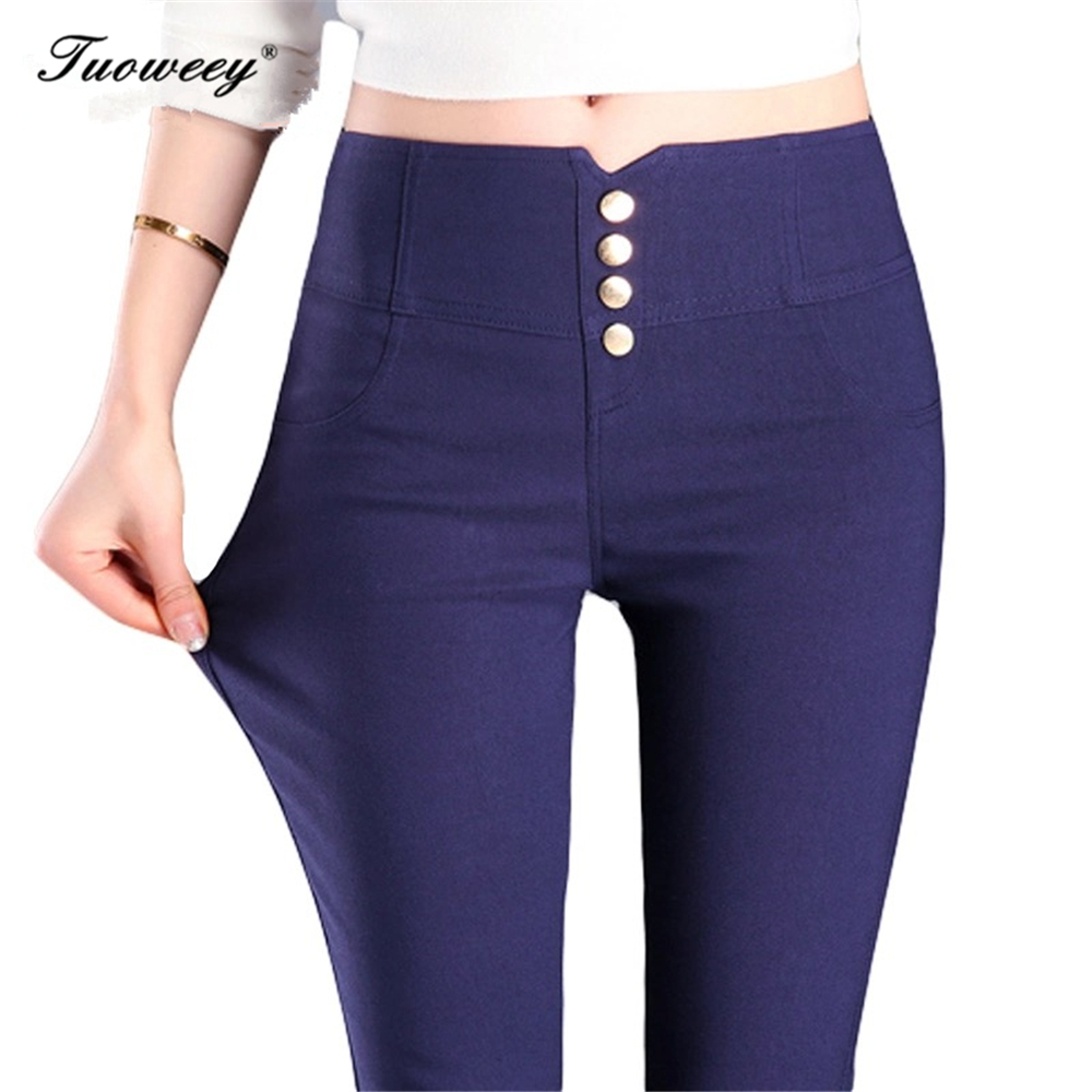 tuoweey plus size High Waist Jeans Skinny 2018 For Women