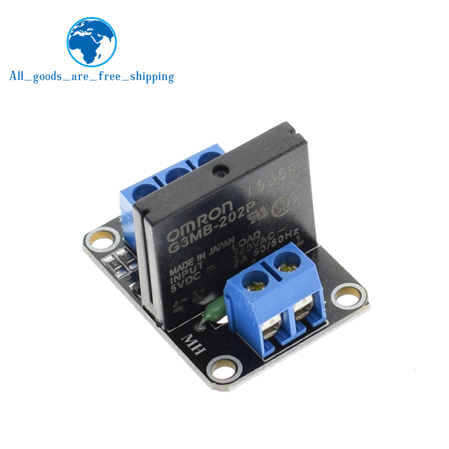 tzt 5v 1 channel omron ssr high level solid state relay module 250v 2a for  arduino