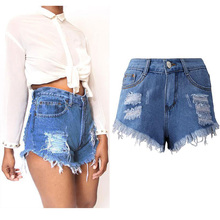S-3XL Size Ripped Jeans Shorts Women Fashion Hole Rivet Denim Shorts Female Summer Style Plus Short Trousers Women Clothing 2956