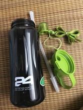 Herbalife Nutrition Mega Half Gallon 64oz Shake Sports Water Bottle Tritan Plastic Black with Green Lid