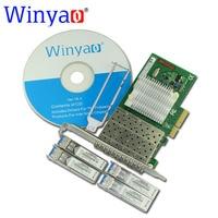 Winyao wyi350lx4 pci e x4 Quad Порты и разъёмы Gigabit Ethernet LAN Волокно сервер сетевой карты (1310nm) для i350 f4 1000 Мбит/с NIC (LC LX)