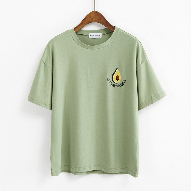 661c1782 bts t shirt women 2019 harajuku korean lovely cute t-shirts embroidered  butter fruit letters fashion retro kawaii t-shirt women