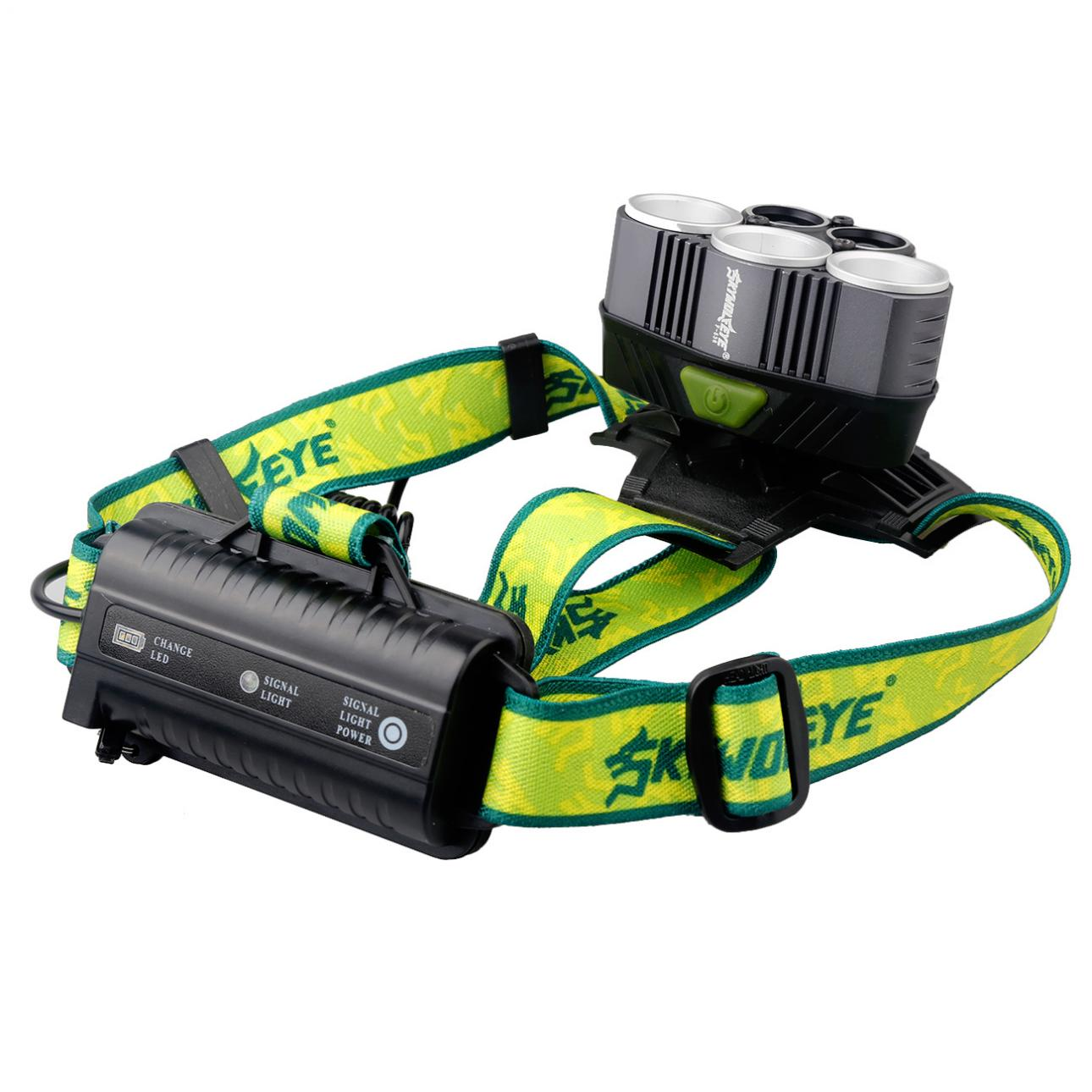 SKYWOLFEYE F526 Headlamp 1500Lm 3x T6 2x XPE 3 LED Rechargeable HeadLight Torch for Outdoor Fishing Camping Hiking in Headlamps from Lights Lighting