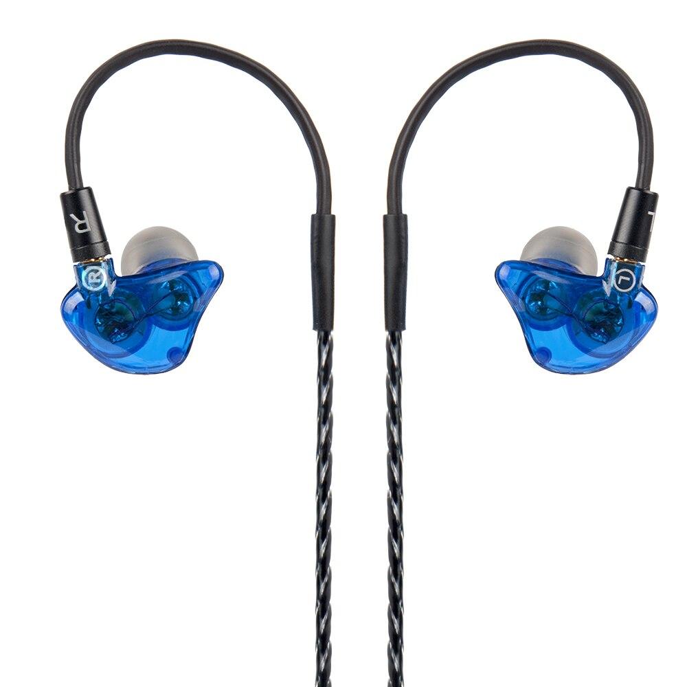 Wooeasy DIY UE Custom Made Around Ear Earphone Dual Unit In-Ear Dynamic HIFI Earbuds Stereo Headset