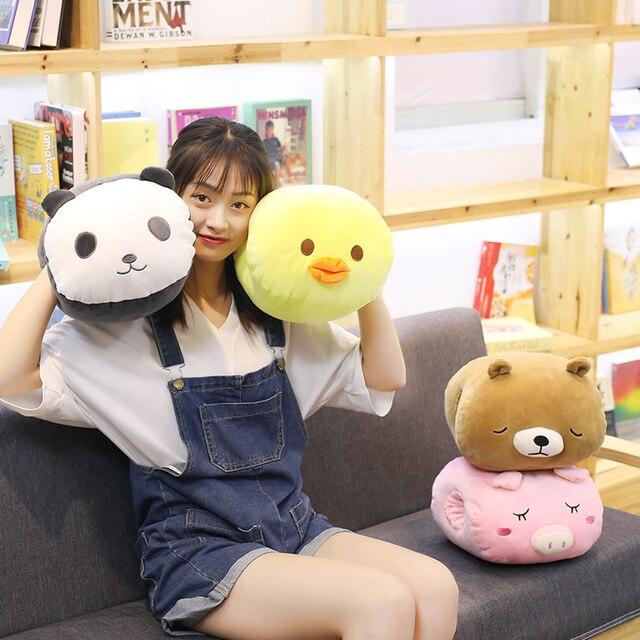 Hot 2019 Nova 28 centímetros Plush Toy Stuffed Animal Macio urso panda porco Boneca Travesseiro Mão Mais Quente Cão Gato de Pelúcia crianças Brinquedo de presente de natal