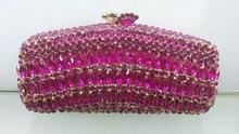 Freies verschiffen!! A15-9, rosa farbe mode top kristallsteinen ring handtaschen für damen nette parteibeutel