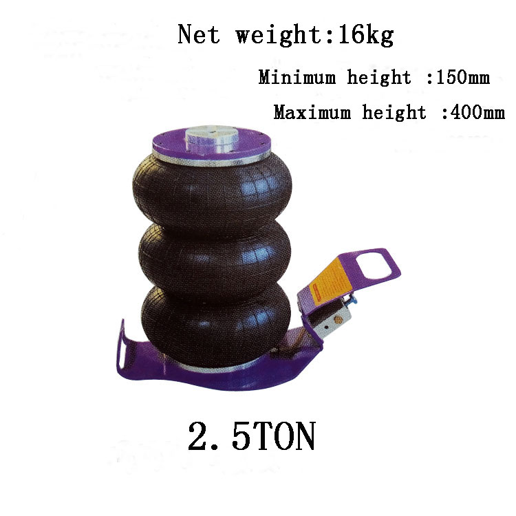 2.5TON air pressure auto jack car jack air inflation jack lifting weight 2.5 TON Working height 400MM Min Height 150MM