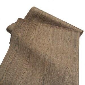 Image 1 - 技術4FCクルミ木材エンジニアリングベニヤe.v。62 × 250センチメートルティッシュバッキング0.2ミリメートルの厚さのc/c