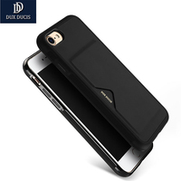 DUX DUCIS Case For IPhone 7 7 Plus Luxury Leather Card Case Ultra Slim Credit Card