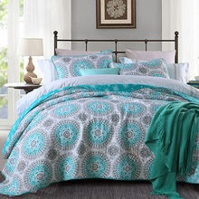 CHAUSUB Quality Print Quilt Set 3pcs Washed Cotton Quilts Quilted Bedspread Bed Cover Sheets Coverlet King Size 11 Patterns