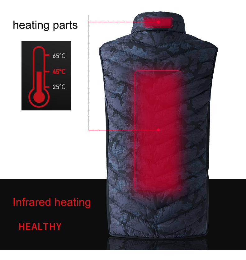 Image 3 - LOMAIYI Mens USB Heated Vest Men Winter Camouflage Sleeveless 