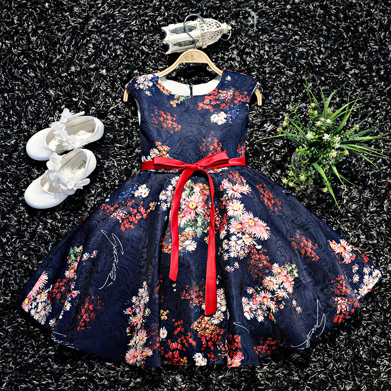 Girls Dress Children Wedding Party Dresses Kids Evening Ball Gowns Formal Baby Frocks Clothes for Girl for 3-8Y