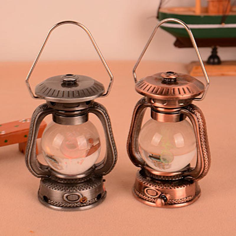 New Cigarette Lighter Antique Kerosene Lamp MINI Lantern Lighter Refillable Butane Gas...